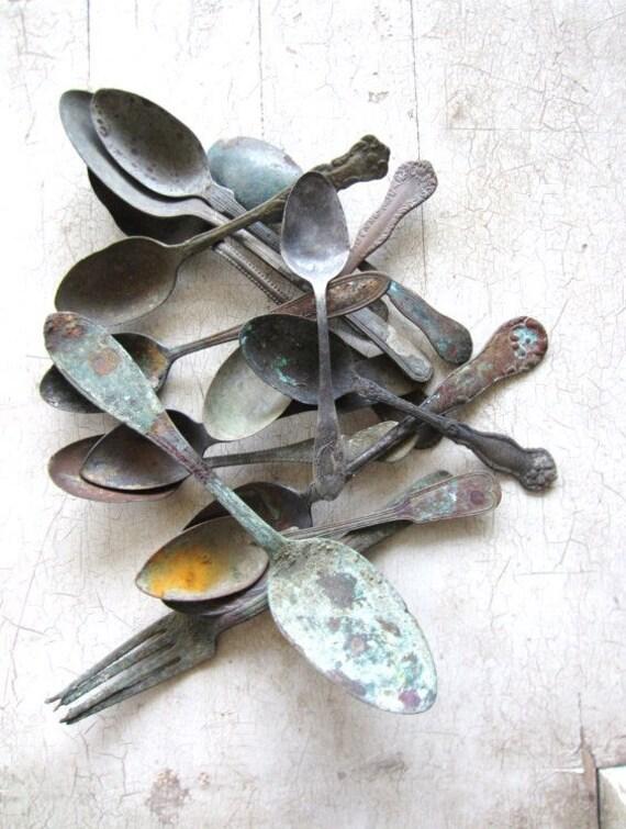Antique Artifact Spoons Collection circa 1860's