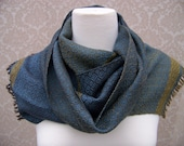 SALE-Brown to Purplish Brown with Blue Handwoven Scarf-Today Only