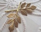 Golden Leaf Bobby Pin Duet
