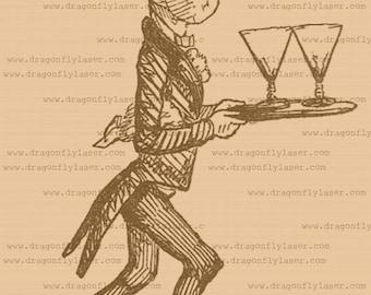 Waiter, Garcon, vintage style digital delivered image