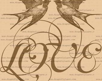 LOVE Birds, digital delivered image