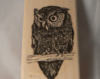 P39 Owl rubber stamp
