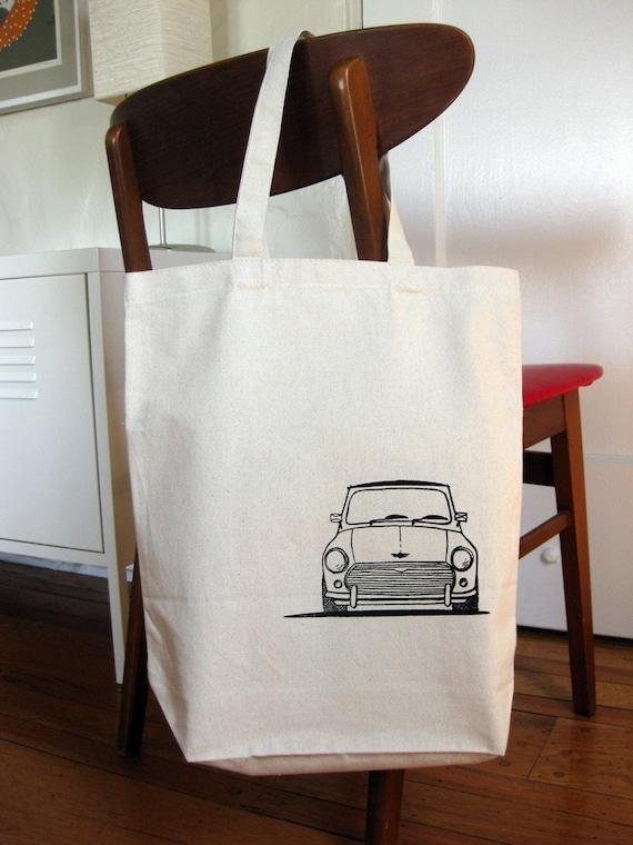 Classic Mini Cooper Boot and Bonnet Tote Bag