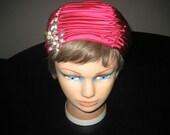 Elsa Schiaparelli Hot Pink Silk Turban Hat