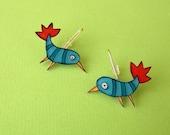 Exotic Birds Earrings