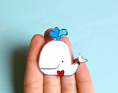 White whale brooch