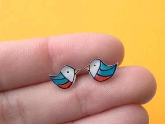 Tiny Birds Studs