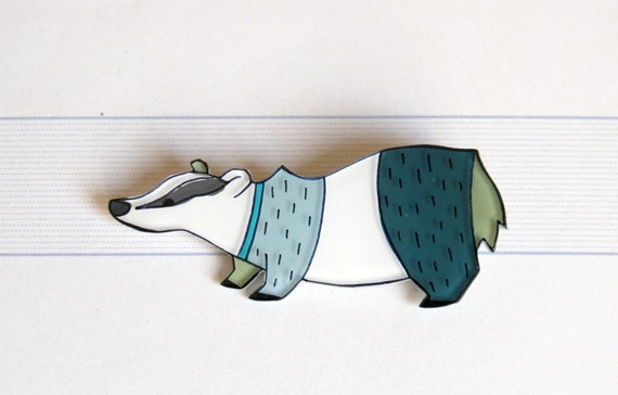 badger brooch