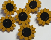 Sunflower Push Pins for Bulletin Board Hand Painted