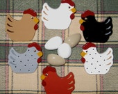 Chickens and Eggs Push Pins for Bulletin Board