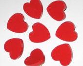 Red Valentine Heart Push Pins