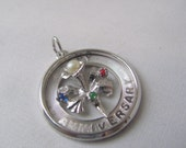 SALE Sterling Silver Happy Anniversary Charm By M And M Sterling...dv  Was 18.99 Now 15.99