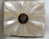 Mother Of Pearl Petit Point Compact