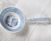 Victorian c1846 Transferware Blue And White Sauce Ladle
