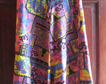 SALE Vintage 1960s Bollywood Psychedelic Bellbottom Pants Was 45.00 Now 32.99
