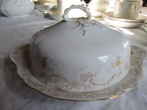 SALE Victorian Lidded Butter Dish Yellow Roses Transferware By Henry Alcock Cobridge, England Was 37.99 Now 32.99
