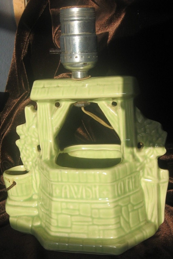 BUCKINGHAM  McCOY CERAMIC WISHING WELL LAMP....SALE...WAS 35.00 NOW 25.00....