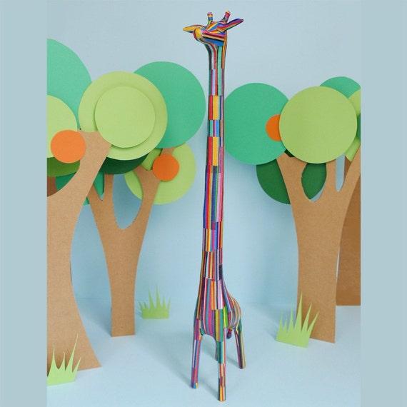 Paper Giraffe Sculpture