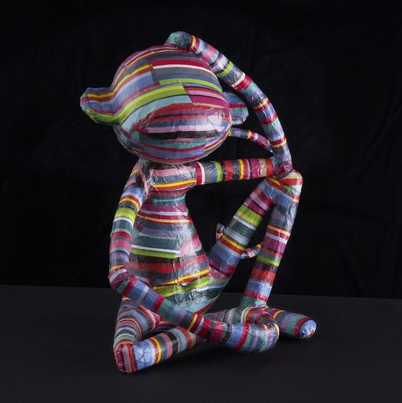 Paper Monkey Sculpture - Jamie