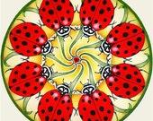Ladybug Mandala