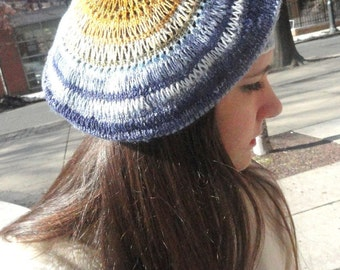 No Two Snowflakes presents Drop of a Hat  KNIT BERET pattern PDF by Nicole Feller-Johnson
