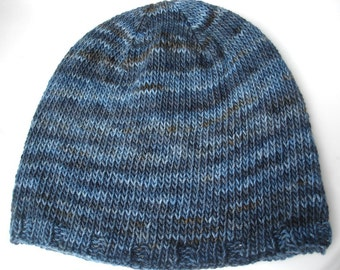 No Two Snowflakes presents Bread and Butter Men's Hat SIMPLE KNIT HAT Pattern Pdf by Nicole Feller-Johnson