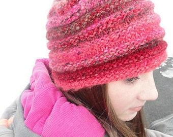 No Two Snowflakes presents Snowdrift Hat Simple Knit Hat PATTERN PDF by Nicole Feller-Johnson