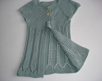 No Two Snowflakes presents Katrina Ballerina Lace Layering Cardigan Top Down SWEATER PATTERN PDF by Nicole Feller-Johnson