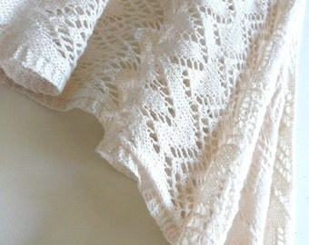 No Two Snowflakes presents Crystalline 4th Anniversary LACE SHAWL pattern PDF by Karen Walker