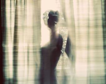 Silhouette Portrait, Sensual Photograph, Fine Art Photograph, Female Figure, Window Light, Fine Art Photography, Bedroom Decor