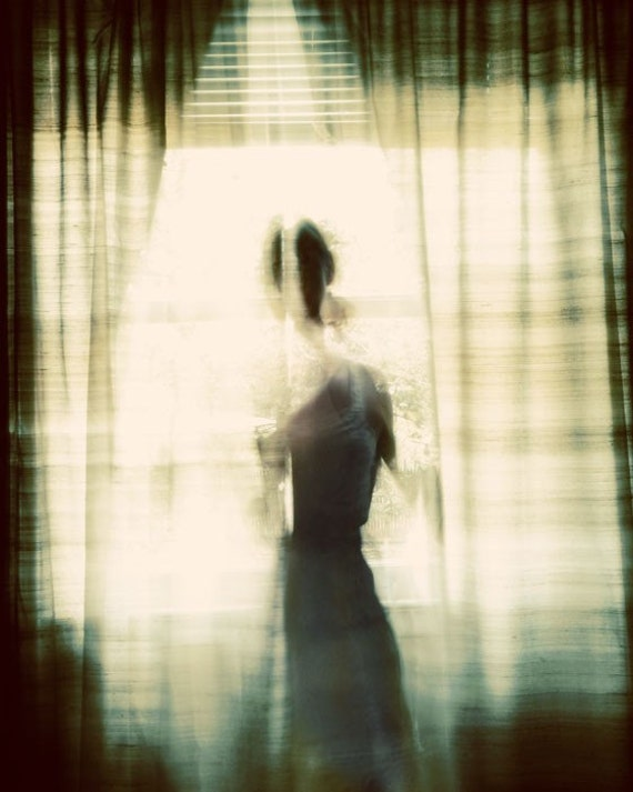 Surreal Portrait, Female Silhouette, Haunting Photo, Bedroom Decor, Brown, Woman, Romantic, Warm, Rich Colors, Gold, Ghost, Fine Art Print