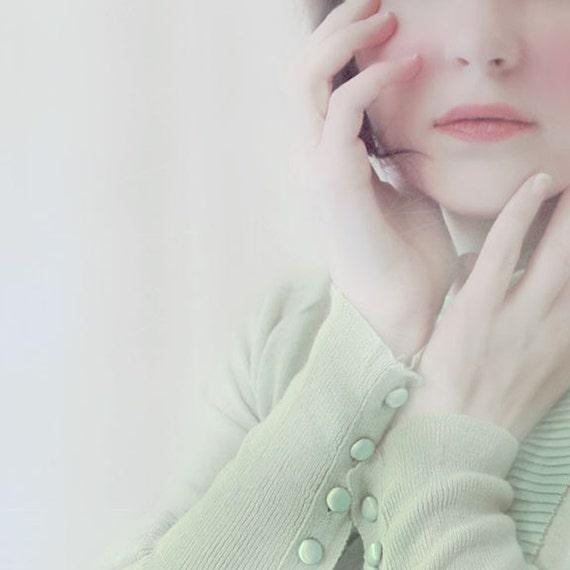 Ethereal Portrait, Female Figure, Pastel, Pale Mint, Dreamy Photography, Surreal Photography, Romantic Portrait, Bedroom Art,