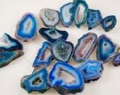 1/2 Strand of Blue Druzy beads ON SALE  18.00