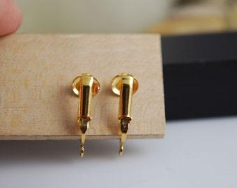 pierced looking clip on fidings