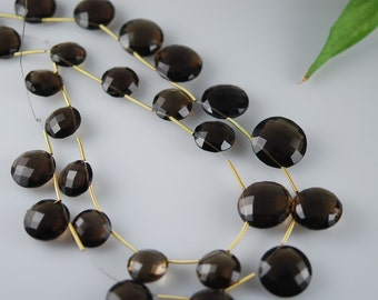 1/2 strand of smokey coins WHOLESALE PRICE on sale from 18 to 14.00