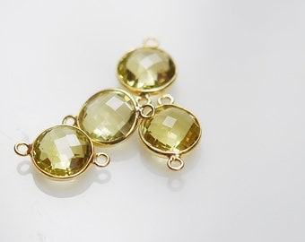 reservedFOR BETAWI Lemon Topaz Round Connector in vermeil 2 pieces 22.00 ON SALE 19.80