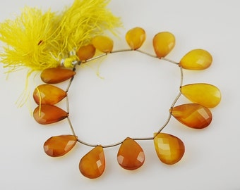 1 /2 strand Mustard Chalcedony Almonds WHOLESALE PRICE 18.00