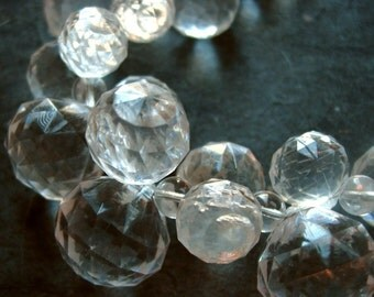 Clear Faceted Bubbles Necklace