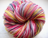 Sock yarn hand painted merino 100g red yellow gray