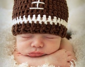 Crochet football Hat beanie Size newborn to Adult classic or choose team colors