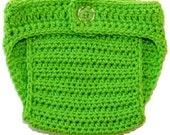 Crochet Diaper cover newborn 0-3 3-6 6-12 12-24 months lime green