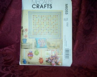 UNCUT McCalls 6053  Quilt YoYo Rabbit Ornaments Pillow Sewing Pattern SEWBUSY12