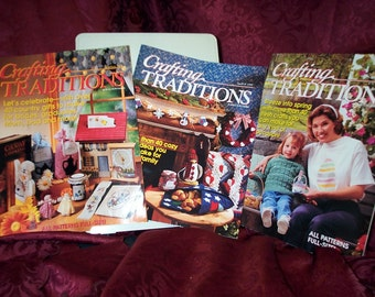 Vintage,Crafting Traditions Magazines, Crafts, Recipes, Christmas Projects,Crochet, Knit,Winter,Spring,Summer Crafts,Painting,Sew, SEWBUSY12