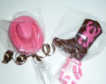Cowboy Cowgirl Chocolate Lollipops