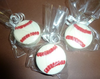 1 Dozen Baseball Chocolate Covered Oreo cookies