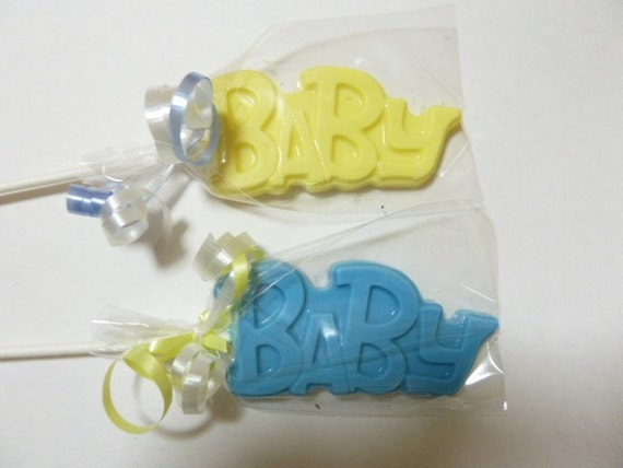 Baby Shower Announcement  Chocolate Lollipops