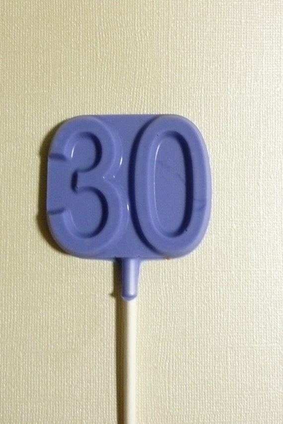 One Dozen  30th birthday anniversary chocolate lollipop