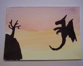 The Traveling Dragon-Goes to Tibet Original ACEO