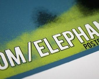 Elephantgun Screen Print Show Poster