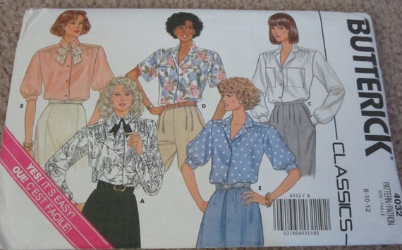 Vintage Blouse Pattern Not Cut - Buy One Get One FREE